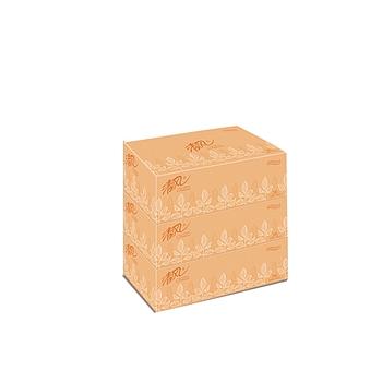 清风 Breeze 盒装面巾纸双层 B338AF 200抽/盒 3盒/提 12提/箱