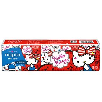 妮飘 nepia 手帕纸 HKMK10 10张/包 10包/袋 48袋/箱 (HelloKitty)