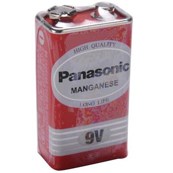 松下 Panasonic 碳性电池 6F22ND 9V 1节/卡
