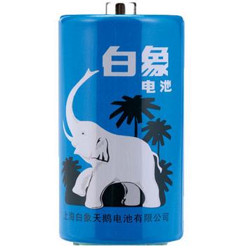 白象 WHITE ELEPHANT 碳性电池 1号 2节/卡