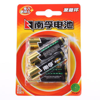 南孚 NANFU 碱性电池 5号 6节/卡
