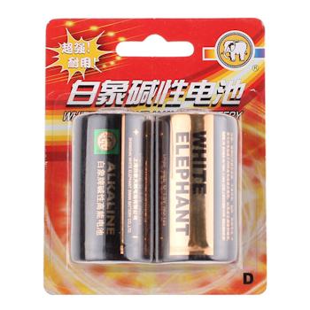 金白象 碱性电池 1号 2节/卡