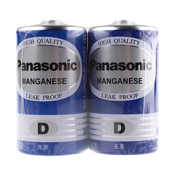 松下 Panasonic 碳性电池 1号 2节/卡