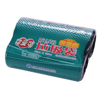 可爱可 点断式垃圾袋组合优惠装 45cm*55cm (黑色) 30只/卷 2卷/组 20组/箱