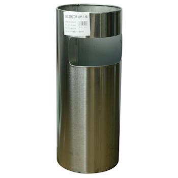 滋仁 圆形不锈钢喷塑烟灰桶 LT-036 (银色)