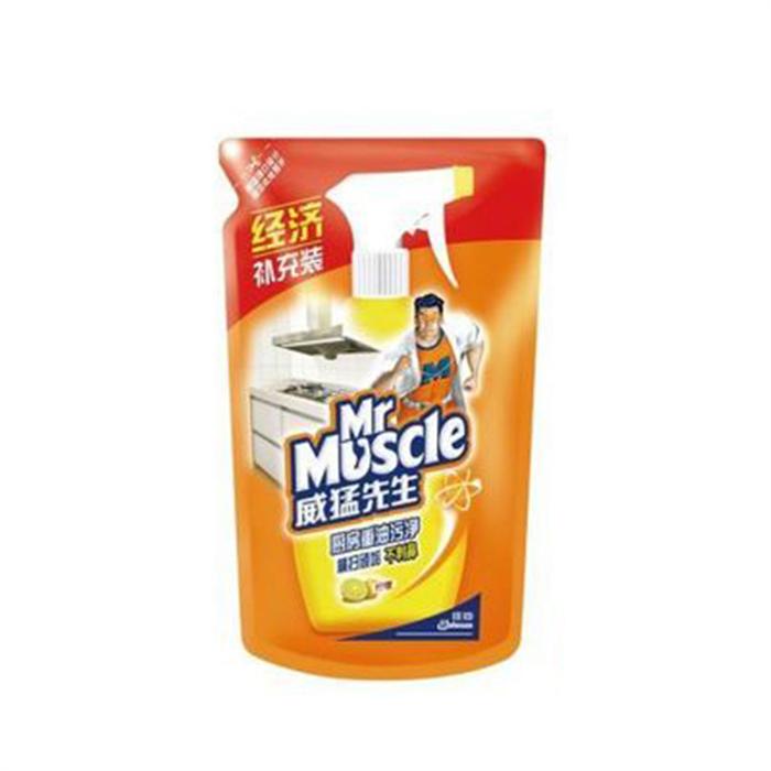 威猛先生 Mr Muscle 厨房重油污净补充液 420g/袋 24袋/箱 (柠檬味)