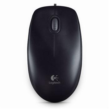 罗技 Logitech 有线鼠标 M100R (黑色) USB