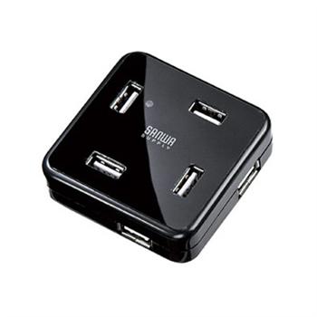 山业 SANWA 多功能集线器 USB-HUB250BK 七口 (黑色)