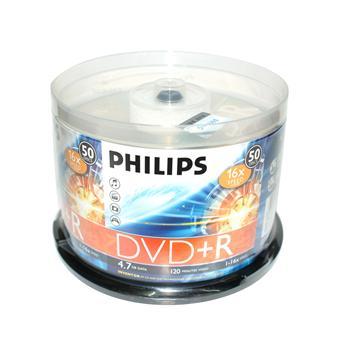 飞利浦 PHILIPS 光盘 50片/筒 DVD+R 16X 4.7G