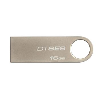 金士顿 Kingston U盘 DataTraveler SE9 16GB (银色) 金属