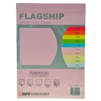 旗舰 FLAGSHIP 彩色复印纸 A4 80g (浅红色) 100张/包 (仅限上海北京可售)