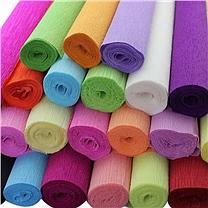 国产 皱纹纸 400cm*50cm 80-30 (亮黄)