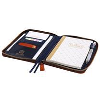 晨光 M&G 定制拉链包套装 HAPY0076 (棕色) (含腰封或者不干胶印刷)(下单前请与客服沟通您的定制信息)