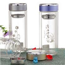 国产 定制华亚晶典双层玻璃杯 HL2-350 350ml (多色可选) (下单前请与客服沟通您的定制信息)
