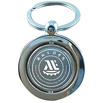 传臣 金属钥匙扣  可旋转转动圆形,双面定制刻字logo创意广告小礼品定做