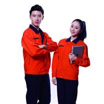 国产 定制工作服 JYT8801-3 (橙红色) 棉毛酵洗帆布 丝印/热转印/刺绣(下单前请与客服沟通您的定制信息)