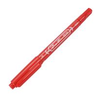 斑马 ZEBRA 小麦奇双头记号笔 MO-120 细头1.0-1.3mm,极细头0.5mm (红色) 10支/盒