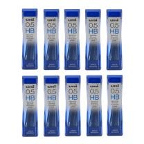 三菱 uni HB活动铅芯 202ND 0.5mm  10管/盒