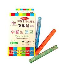 文华水溶性粉笔 彩色 25支/盒 (混色)