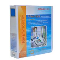 金得利 KINARY 加插封面文件夹 7503D A4 3寸3孔 (白色) 24个/箱