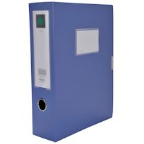 得力 deli 粘扣档案盒 5604 A4 75mm (蓝色) 36个/箱