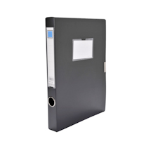 金得利 KINARY 基本色文件盒 F18 A4 36mm (黑色) 72个/箱