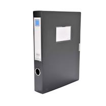 金得利 KINARY 基本色文件盒 F28 A4 50mm (黑色) 12个/箱