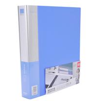 得力 deli D型二孔文件夹加插袋 5387 A4 背宽40mm (蓝色) 6个/箱