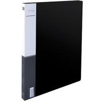 得力 deli 单强力夹加插袋文件夹 5301 A4 背宽18mm (黑色) 120个/箱