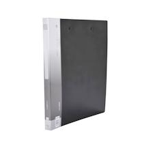 金得利 KINARY 基本色双强力夹 AB620W A4 背宽21mm (黑色) 120个/箱