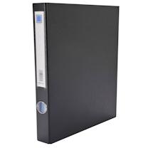 金得利 KINARY PVC2孔D型夹 DCL10115D A4 背宽43mm (黑色) 60个/箱