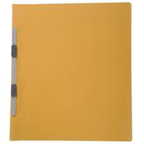 普乐士 PLUS 纸质双孔夹 C78-037 A4 背宽20mm (鹅黄) 10个/包