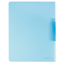 树德 Shuter 清新透明斜纹旋转报告夹 QW331 A4 (浅蓝)