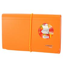 金得利 KINARY 票据风琴包 F4403 A6 13格 (蓝色、橙色、红色、灰色) (颜色随机)