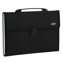金得利 KINARY 针织纹手提风琴包 KF412TL A4 13格 (黑色)