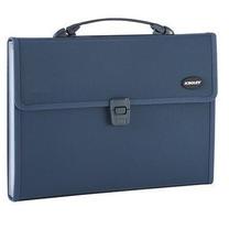 金得利 KINARY 针织纹手提风琴包 KF412TL A4 13格 (蓝色)