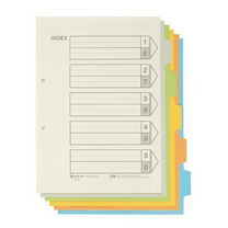 锦宫 KING JIM 纸质彩色分类纸 907GS  5页/套