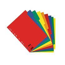 易达 Esselte 五色纸质10级分类索引 56104/100201 (彩色) 10页/套