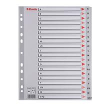 易达 Esselte 胶质字母A-Z分类索引/PVC分类纸 47136(100112) (彩色) 20页/套