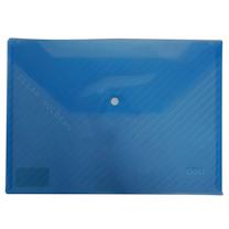 得力 deli 丝印按扣公文袋 5501 A4 (蓝色) 10个/包