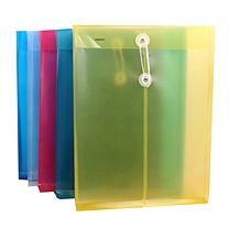 金得利 KINARY 透明档案袋 F118 A4 (蓝色、黄色、红色) 12个/包 (颜色随机)