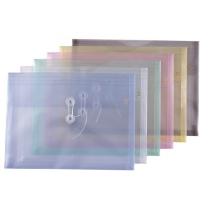 钊盛 透明文件袋 ZS-116A A4 (蓝色、白色、绿色、粉色、黄色 ) 12个/包 (颜色随机)
