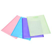 易达 Esselte 粘扣式双色双袋信封袋/竖 75020 A4 (粉色、蓝色、紫色、绿色) 4个/包 (颜色随机)