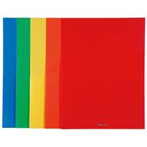 易达 Esselte 亮彩单色双袋文件套 74090 A4 (红色、蓝色、绿色、黄色、橙) 5个/包 (颜色随机)