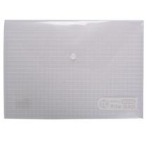 晨光 M&G 方格纽扣袋 ADM94516 A4 (红色、蓝色、绿色、白色) 12个/包 (颜色随机)