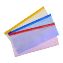 远生 Usign 票证透明拉边袋 US-F53 票据式 (红色、蓝色、黄色、绿色) (颜色随机)