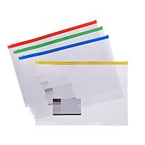 远生 Usign 票证透明拉边袋 US-F55 B5 (红色、蓝色、黄色、绿色) (颜色随机)