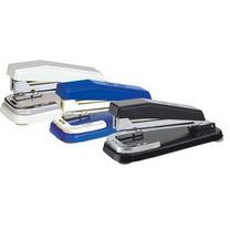 得力 deli 旋转型订书机 0414 25页 (灰色、蓝色、黑色) 6个/盒 (颜色随机)