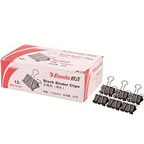 易达 Esselte 黑色长尾夹 10125 25mm 12个/盒