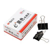 晨光 M&G Eplus盒装黑色长尾夹 ABS92726 50mm 12盒/包 60盒/箱